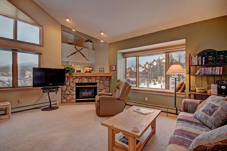 Tyra Stream 339 Condo: Living Area with Fireplace