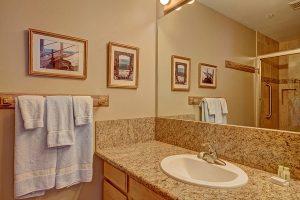 Master Bath with Granite Sink Area
