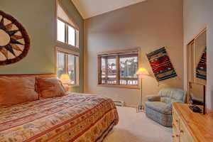 Master Bedroom with HDTV and Snowflake Lift out the Window!