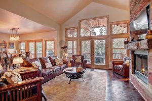 Spacious and Bright Living Area with Vaulted Ceilings