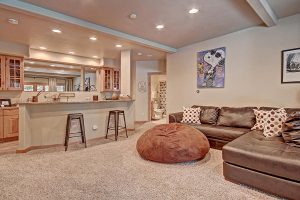 Lower Level Living Area with Wet Bar