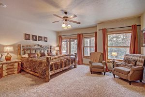 Lower Level Master Suite with King Size Log Frame Bed