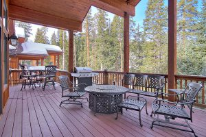 Main Level Large Covered Deck with Gas Fire Pit and Gas Grill
