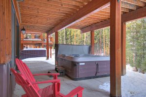 Private Hot Tub with Outdoor Seating Nearby