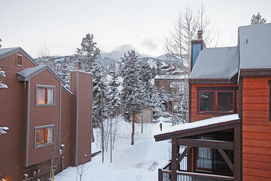 Winterpoint 9 Townhome: Back Deck Ski Area View