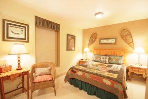 Lower Level Bedroom #4 with Queen Bed and En-suite Bathroom