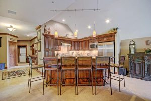Kitchen Island with Bar Seating for 6 People