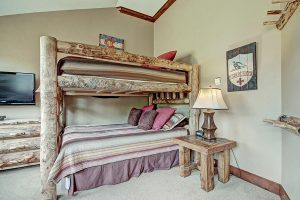 Bunk Room View #2 with Rustic Furnishings and Queen Trundle
