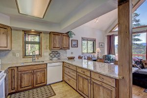 Beautiful Wood Cabinets & Granite Countertops