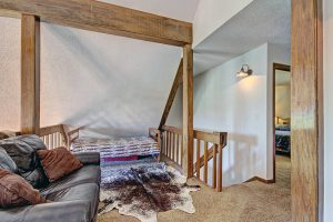 Loft Area with Love Seat and Two Twin Beds