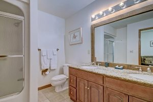 Master Bath with Double Sink, Tub/Shower Combo and Heated Floors