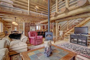Colorado Log Living at its Finest, Open Floor Plan