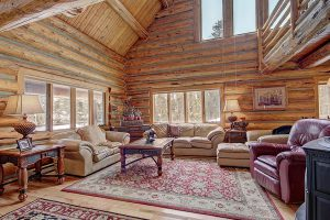 Beautiful Log Walls and Vaulted Ceilings