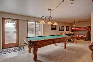 Lower Level Rec. Area with Pool Table and Card Table
