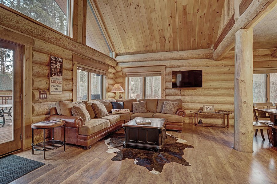 The Bear Cabin: Living Area