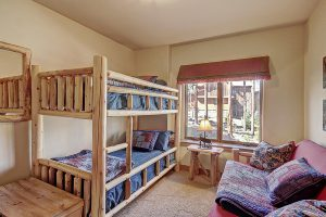 Lower Level Guest Bedroom #5 with Twin Bunk Beds and Full Size Sleeper Sofa/Futon