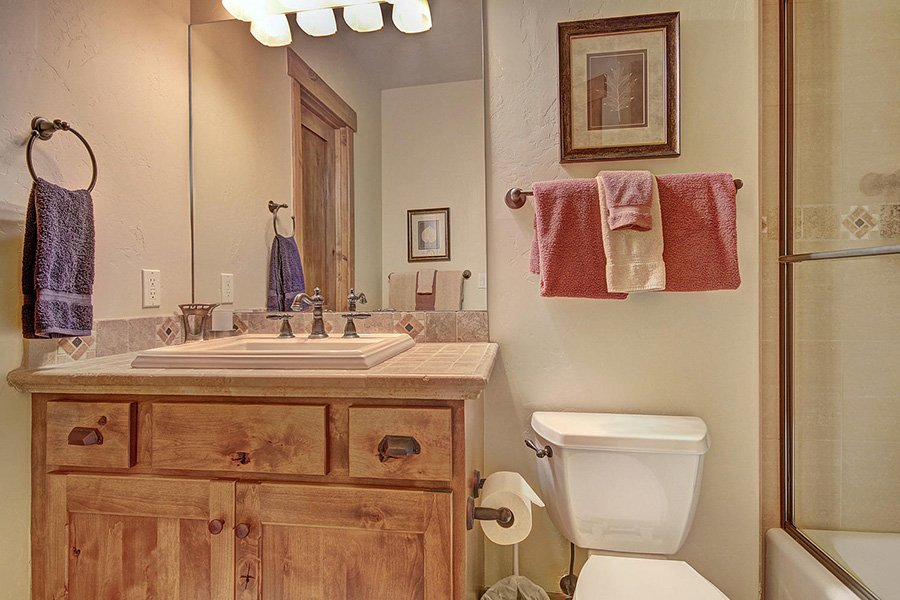 Moose Crossing Lodge: Lower Level Guest Bathroom