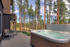 Bubbly Private Hot Tub Outside of Downstairs Living Area