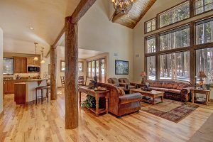 Great Room with Vaulted Ceilings and Beautiful Exposed Beams