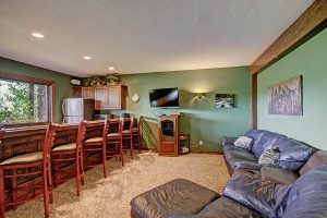 Lower Level Family Room with Full Wet Bar