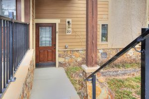 Front Door to Claimjumper #22 Townhome