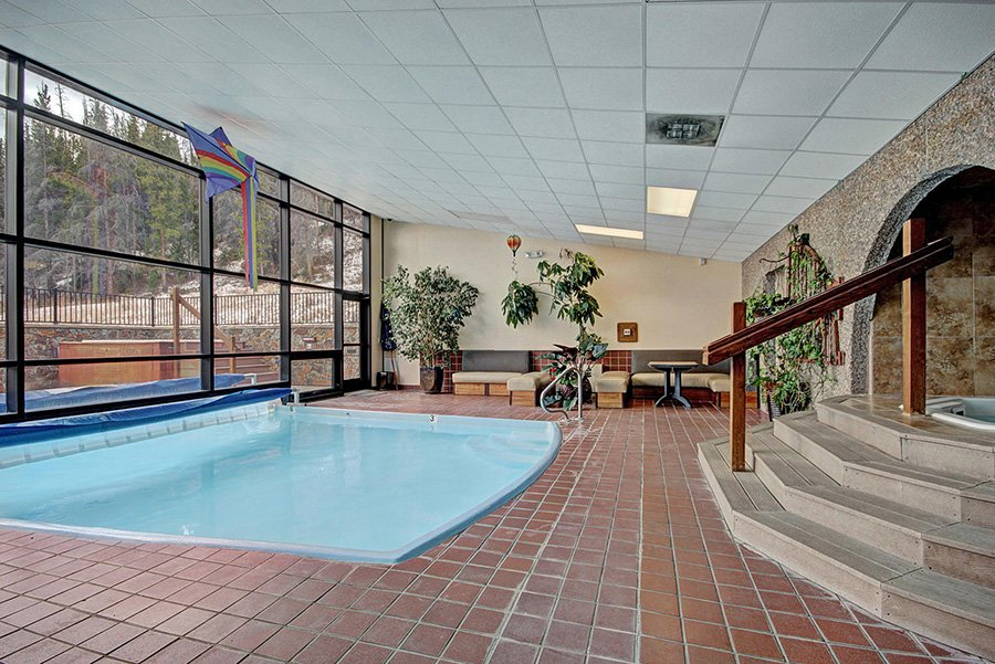 Claimjumper Condo 22: Indoor View of Pool Area