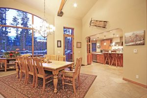 Light and Bright Dining Area with Great Mountain Views