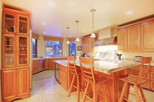 Extra Large Gourmet Kitchen with Built-in Wine Cooler