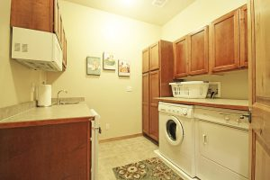 Master Bedroom Washer and Dryer with Wet Bar