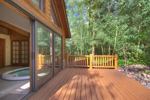 Back Deck off of Sunroom