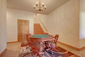 Downstairs Poker Table for Fun Game Nights