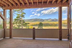 Downstairs Balcony with Stunning Views of Ten Mile Range
