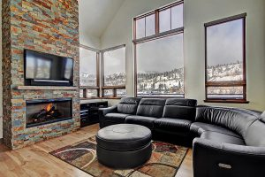HDTV, Blazing Gas Fireplace, and a Comfortable Couch to Relax On