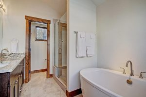 Master Suite #1 Bathroom with Separate Shower and Tub